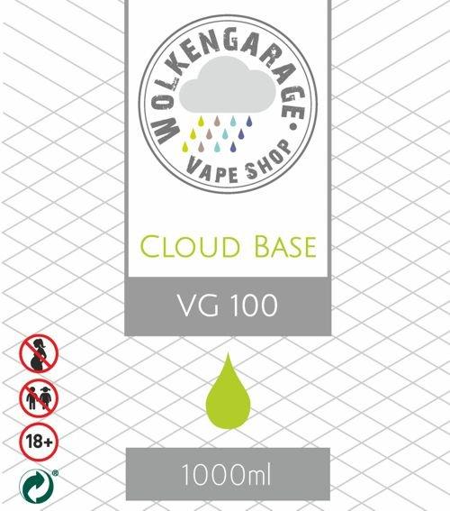 Wolkengarage Cloud Base 1000ml VG ohne Nikotin