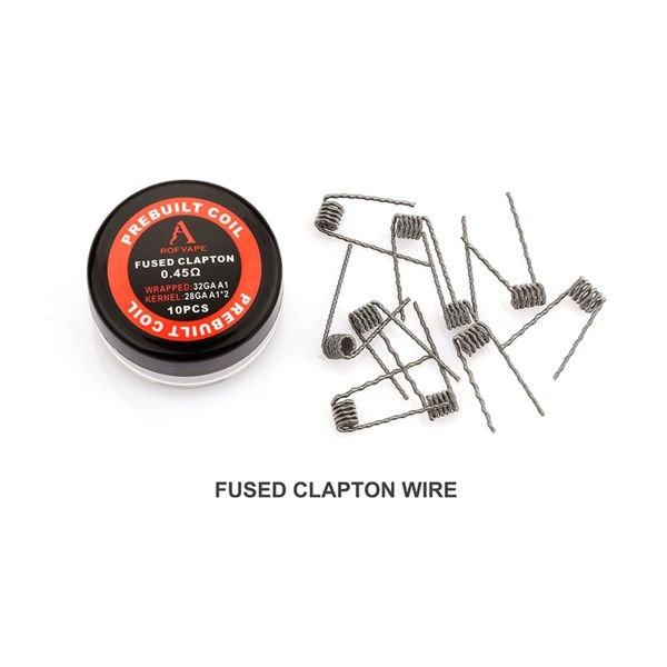 Rofvape Fused Clapton Coils 0,45 Ohm Wicklungen 10 Stück