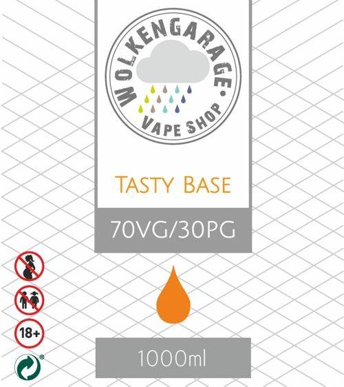 Wolkengarage Tasty Base 1000ml Base 70VG/30PG ohne Nikotin