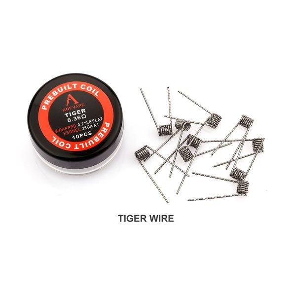 Rofvape Tiger Coils 0,36 Ohm Wicklungen 10 Stück